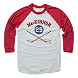 Best NATHAN Fans - 500 LEVEL Nathan MacKinnon Baseball Shirt Medium Red/Ash Review