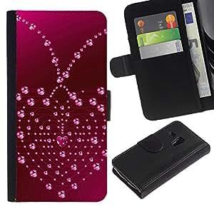 All Phone Most Case / Oferta Especial Cáscara Funda de cuero Monedero Cubierta de proteccion Caso / Wallet Case for Samsung Galaxy S3 MINI 8190 // Love Heart Drops