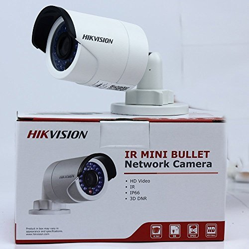 Hikvision DS-2CD2042WD-I, 4MP IR Mini Bullet Network Security Camera POE Day Night Vision IP67 Waterproof HD Home Surveillance CCTV camera, English Version, 4mm Lens (Color Vision Night Mini)