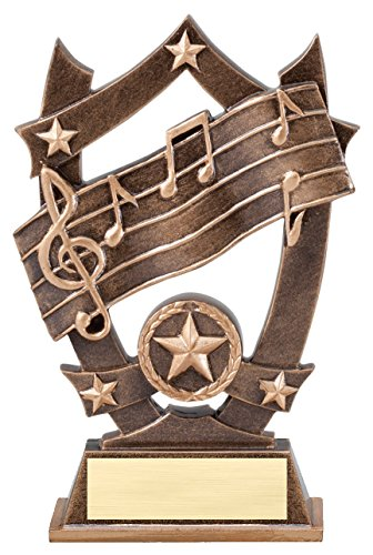 Etch Workz Customize Heavy Resin Casting Award- SSR12 Series Sport Stars Music Trophy - 3D Action - Engraved & Personalized - Resin Trophy Action