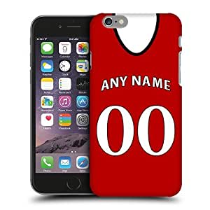 Case Fun Personalised Arsenal Football Shirt, Any Name, Any Number Snap-on Hard Back Case Cover for Apple iPhone 6 Plus (5.5 inch)