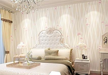 Camere Da Letto Matrimoniali Romantiche : Carta da parati wallpaper camera da letto in tessuto non tessuto