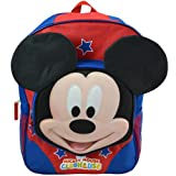 """Backpack - Disney - Mickey Mouse 16"""" w/3D Face New DMCKY"""