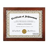 RPJC 8.5x11 Document Frame/Certificate Frames Made Solid Wood High Definition Glass Display Certificates Standard Paper Frame Brown
