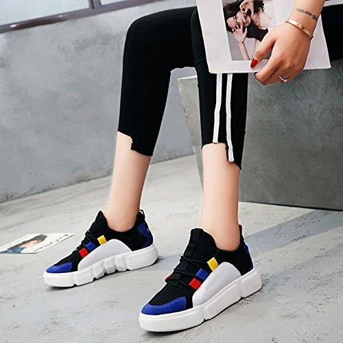 Red Versione Super Selvaggio Net Sportive Scarpe Piccole Blu Scarpe Studente Coreana Donna Bianche Stile Sandales Traspirante Nuovo Fuoco pXP7wHpq