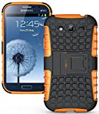 Heartly Armor Rugged Back Case For Samsung Galaxy Grand Duos I9082 / Galaxy Grand Neo Gt-I9060 / Galaxy Grand Neo Plus I9060I - Orange