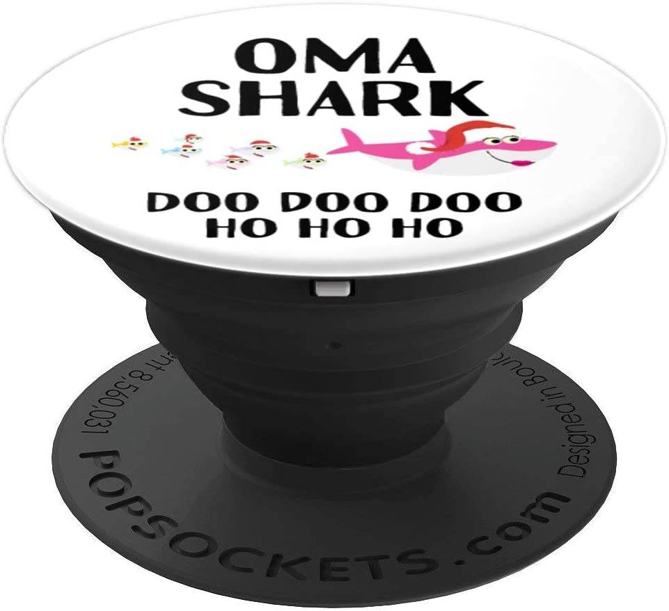 Christmas Oma Grandma Shark Gift Matching Grandchildren PopSockets Grip and Stand for Phones and Tablets