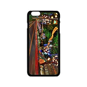 The Busy Street In Christmas Day Hight Quality Plastic Case for Iphone 6