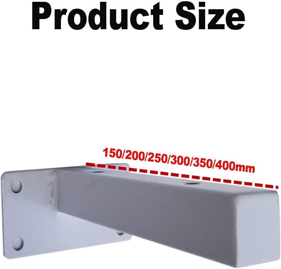 resistente a la luz pesado adecuado para todo tipo de superficies de pared Soporte de hierro de alta calidad estante r/ígido 300mm,Negro 2 piezas