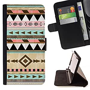 Momo Phone Case / Flip Funda de Cuero Case Cover - Modelo tribal Dibujo Arte - HTC Desire 626