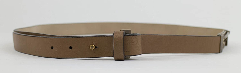 Brunello Cucinelli Womens Beige Leather Belt Size Large
