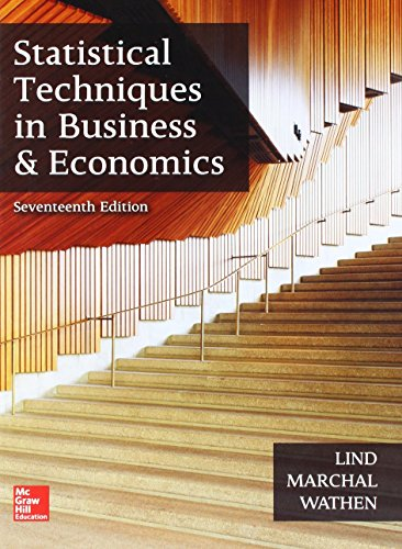 Book cover from GEN COMBO STATISTICAL TECHNIQUES IN BUSINESS & ECONOMICS; CONNECT ACCESS CARD by Douglas A. Lind