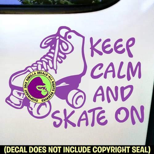 KEEP CALM SKATE ON Roller Skating Vinyl Decal Sticker E