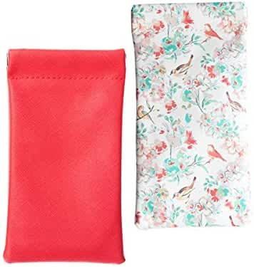 Lucky Leaf Sunglasses Goggles Pouch Case Women Eyeglass Holder with Cleaning Cloth