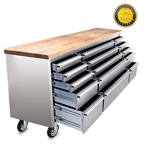 Thor Kitchen HTC7215W 72u2033 Wide 15 Drawer Stainless Steel ...