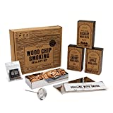 Cooking Gift Set | BBQ Smoker Wood Chip Grill Set for Guys | Dad Birthday Gift Idea