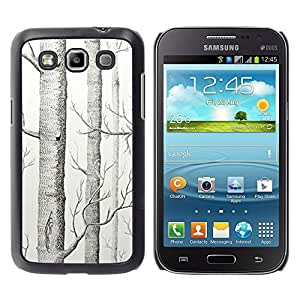 For Samsung Galaxy Win / I8550 / I8552 / Grand Quattro Case , Tree White Art Pencil Drawing - Diseño Patrón Teléfono Caso Cubierta Case Bumper Duro Protección Case Cover Funda