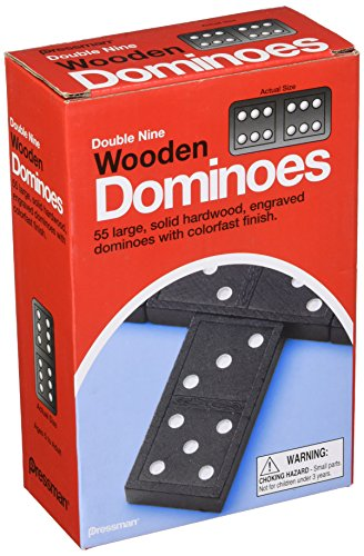 Pressman Double Nine Wooden Dominoes