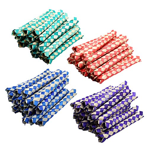 Chinese Finger Traps 5 Inches - Pack of 72 - Cool Chinese Finger Trap - Assorted Two-Tone Colors - for Kids Great Party Favors, Bag Stuffers, Fun, Toy, Gift, Prize - by Kidsco -