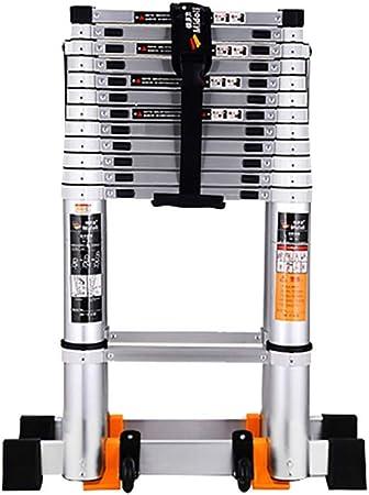 WGOOGA Escalera Doble telescópica Larga Escalera Plegable con Marco en A con Rueda Escaleras de peldaño Extensibles de Aluminio multipropósito for Escalera Industrial Tipo Loft Carga 150 kg: Amazon.es: Hogar