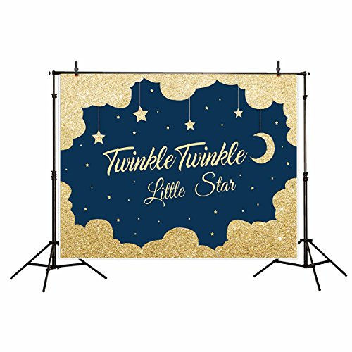 Funnytree vinyl 7x5ft children's photography backdrop background Golden night twinkle twinkle little star family birthday party banner Newborn Photographic studio prop props photo studio booth