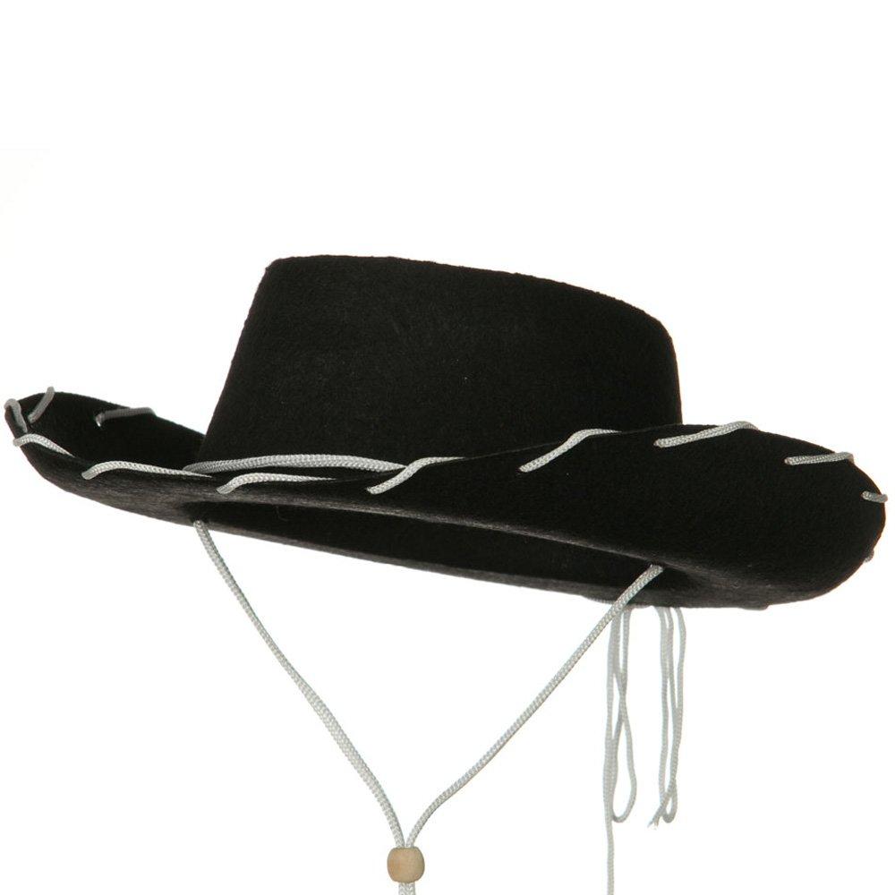 Jacobson Hat Company Stitched Child Felt Straw Cowboy Hat - Black One-Size W21S21F