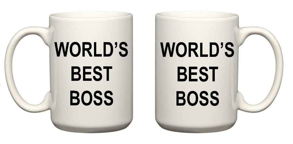 Worlds Best Boss Mug- The Office Michael Scott Mug- CoolTVProps the Office Mug World's Best Boss Coffee Mug- The Office Coffee Cup- TV Show Mugs 15 oz Cool TV Props SYNCHKG095284