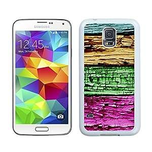 BINGO best retail Colorized Wood Texture Design Samsung Galaxy S5 Case White Cover