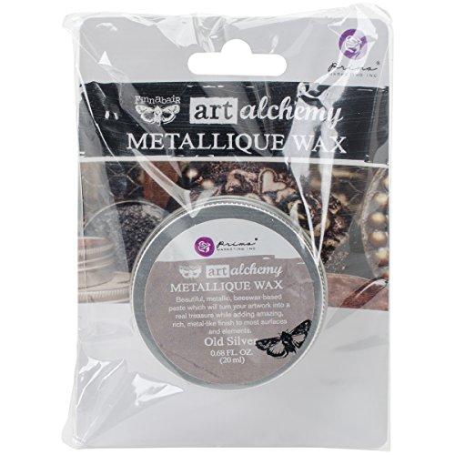Prima Marketing Art Alchemy-Metallique Wax-Old Silver
