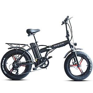 51IbT79dI L. SS300 Skyzzie Bici Elettriche Bicicletta Elettrica Pieghevole Bici elettriche con Pedale,20 Pollici, 500W, Batería al Litio…