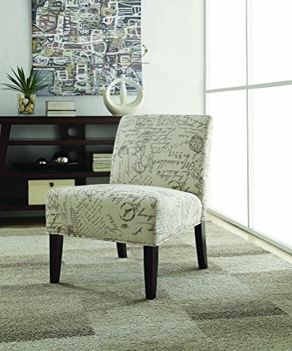 Coaster Home Furnishings French Script Accent Chair Off White and Cappuccino