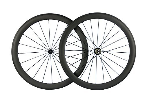 Queen Bike Carbon Fiber Road Bike Wheels 50mm Clincher Wheelset 700c Racing Bike Wheel (Shimano Body)