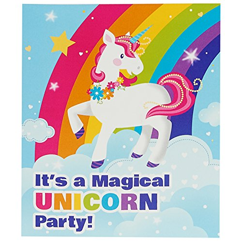 Fairytale Unicorn Party Supplies - Invitations Fairy Princess Birthday Invitations
