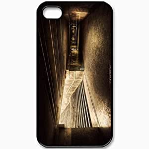 Protective Case Back Cover For iPhone 4 4S Case Metro Transition Subway Black