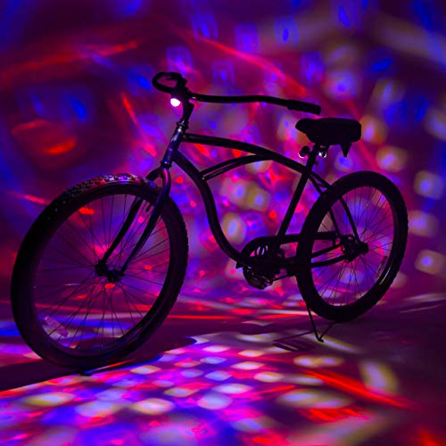 Activ Life Disco Lights [Red/White/Blue] Bicycle Lights for Men & Boys - Great Festival Accessories for Burning Man, Rave, 4th of July & Birthday Party Presents for Cycling Night Rides