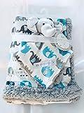 Plush Elephant Baby Blanket and Blankie Pal Gift Set