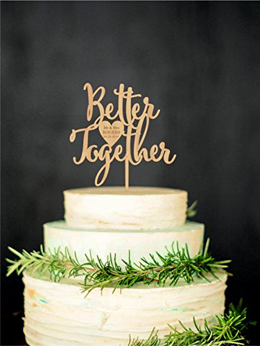 Wta1030 Wta   Wedding Cake Topper Better Together Rustic Wedding Love Cake Topper