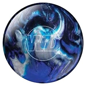 4. White Dot Bowling Ball- Blue/Black/Silver