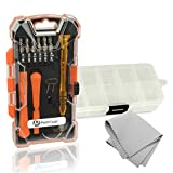 PortPlugs - Smart Phone Repair Tool Kit. High Quality 17-Piece Torx Screwdriver Set Includes 10-Section Part Organizer and Microfiber Screen Cleaner. Fix Any Cell Phone, Computer or Tablet