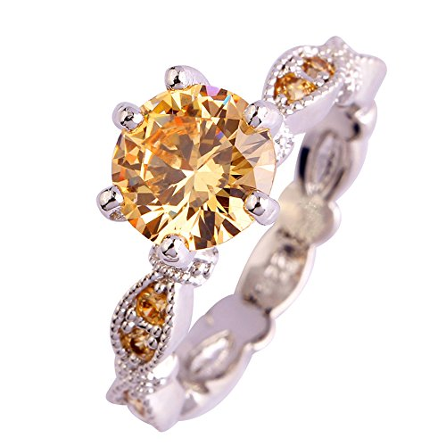 Narica Womens Brilliant Round Cut Brilliant Morganite Twisted Band Cocktail Ring ()