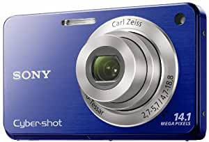Sony Cyber-Shot DSC-W560 14.1 MP Digital Still Camera with Carl Zeiss Vario-Tessar 4x Wide-Angle Optical Zoom Lens and 3.0-inch LCD (Blue)
