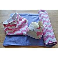 Baby Infant Gift set, Bandana Bib, Burp Cloth, Sensory Toy, Baby shower gift set, Tag Toy, Bib, Cotton Flannel