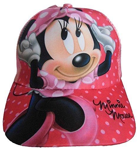 Minnie Mouse Filles Casquette Baseball Satin Rose avec grand image 52cm et 54 cm