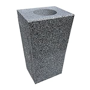 "Granite Vase Tapered (5""x4""x9"") Gray 33"