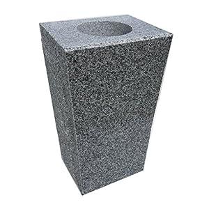 """Granite Vase Tapered (5""""x4""""x9"""") Gray 75"""