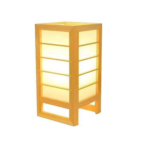 FUSKANG Lámpara de mesa de estilo japonés E27 LED, moderna y ...