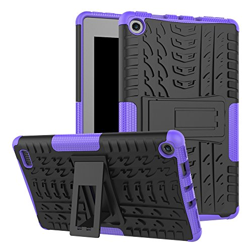 Maomi AMZ flre 7 (2017 Release) Case,[Kickstand Feature],Shock-Absorption/High Impact Resistant Heavy Duty Armor Defender Case for AMZ flre 7 Inch 2017 Tablet (Purple)