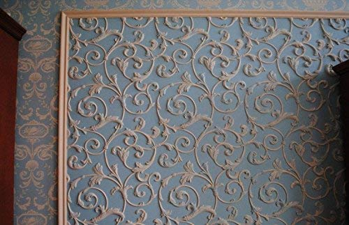 Plastic Mold Form for Wall Panel''Lily'' Wall Mold for Gypsum or Concrete
