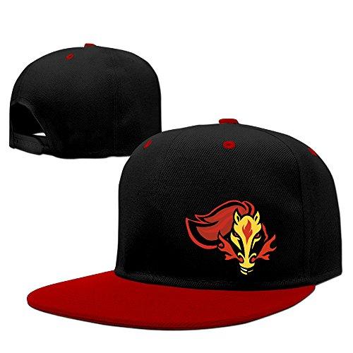 AUGU Sun Cap Calgary Rutgers Sports Hat Red