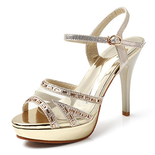 AGECC High Heeled Shoes Women's Shoes and Women's Shoes. Golden